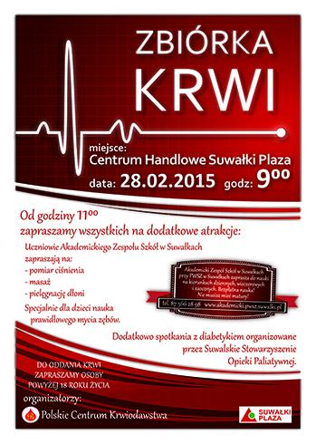 Suwałki krwiodawstwo - plakat v01-1 A5