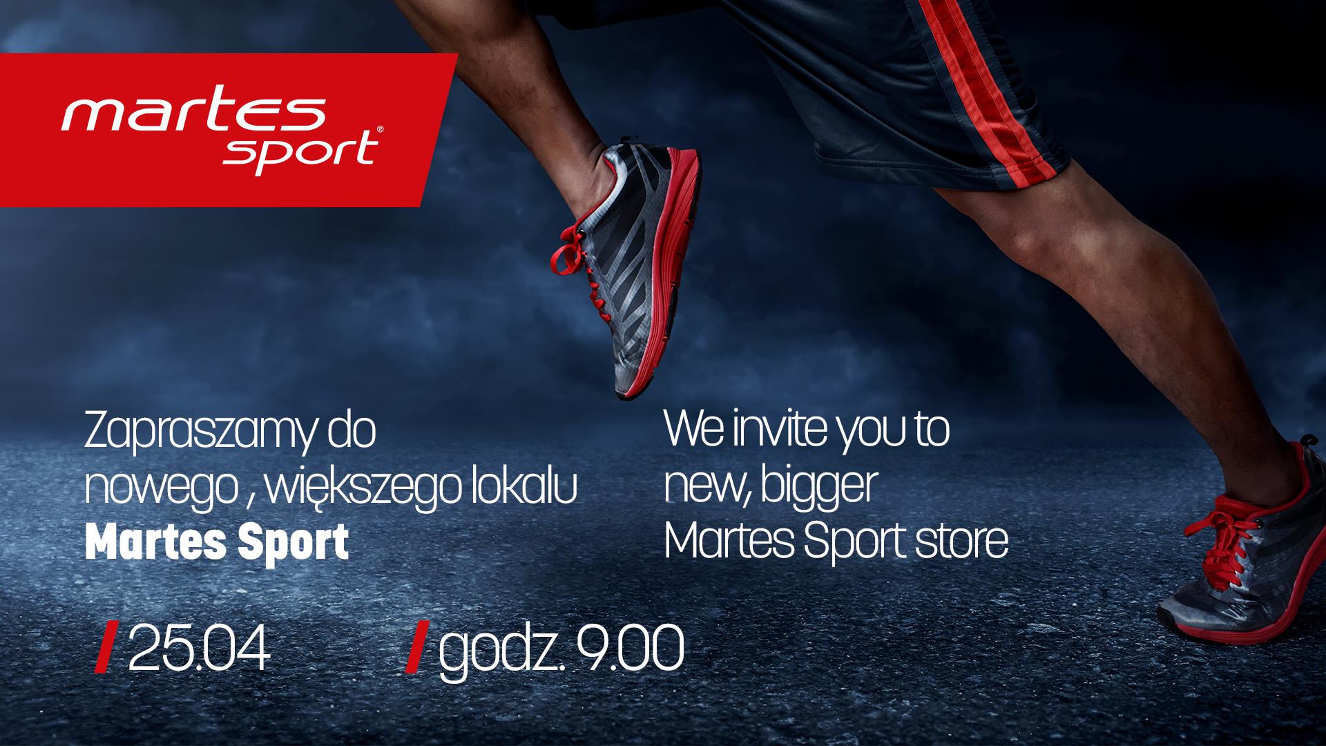 Nowy większy Martes Sport