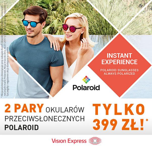 Gorąca promocja Vision Express na lato – okulary przeciwsłoneczne Polaroid w super cenie!