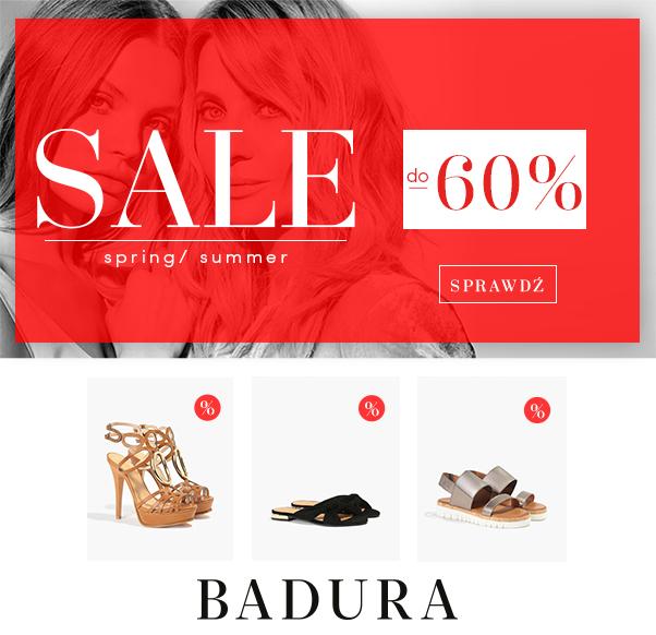 Nawet o -60% niższe ceny podczas SALE w BADURA!