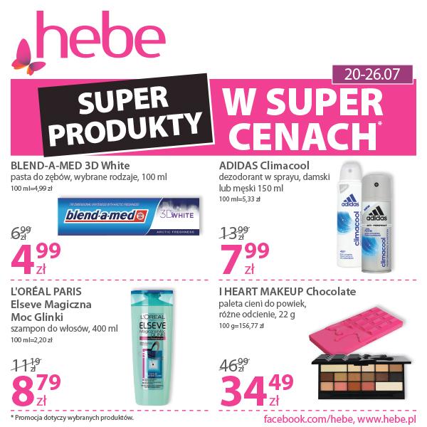 Produkty w super cenach do wyboru, do koloru w hebe!