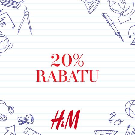 20% RABATU na całe zakupy przy rachunku powyżej 100 zł w H&M