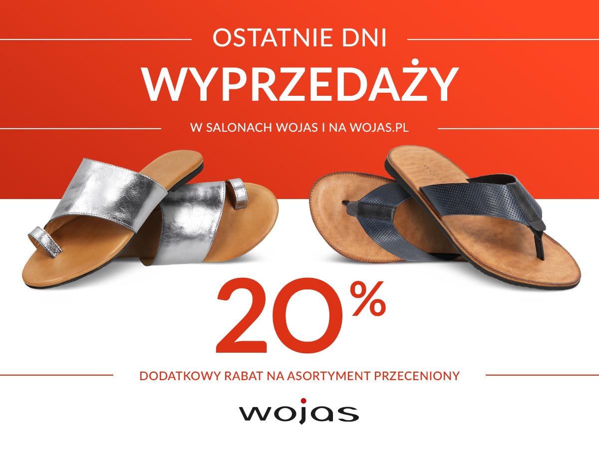-20% rabatu na asortyment już przeceniony w Wojas