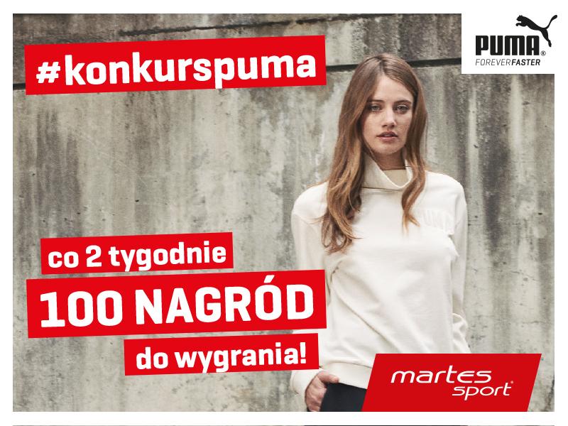 Kup dowolny produkt marki PUMA w sklepie Martes Sport i wygraj jedną z 300 atrakcyjnych nagród