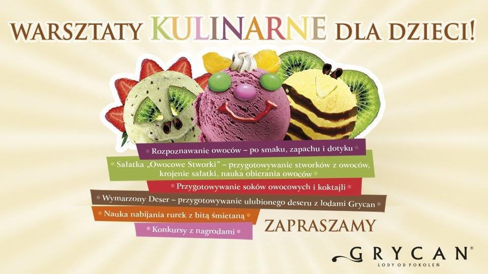 Warsztaty Kulinarne dla dzieci w Grycan
