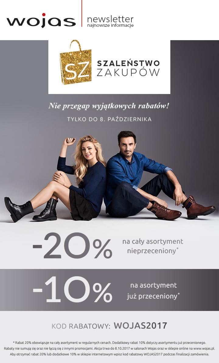 SZALEŃSTWO ZAKUPÓW w salonach Wojas i na www.wojas.pl.