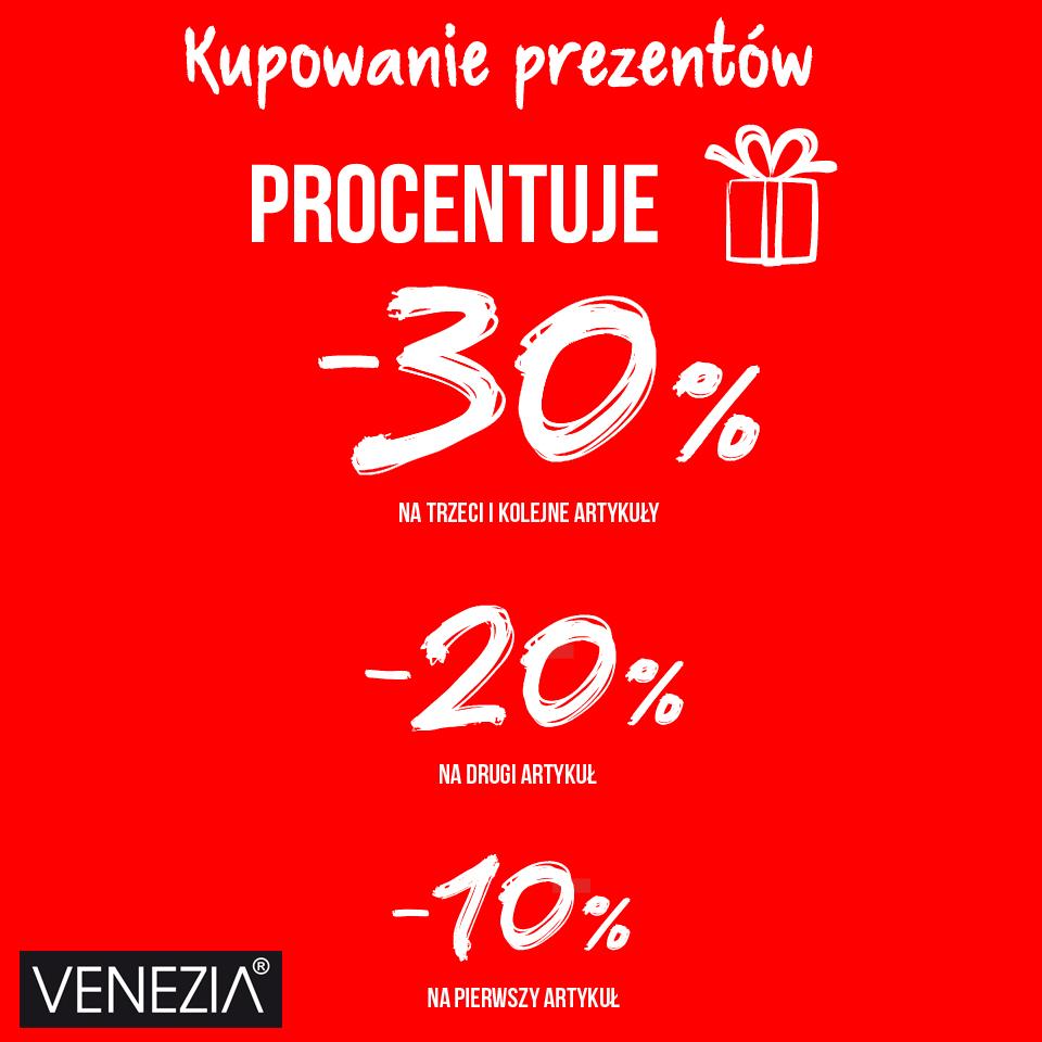 W Venezia kupowanie prezentów procentuje!