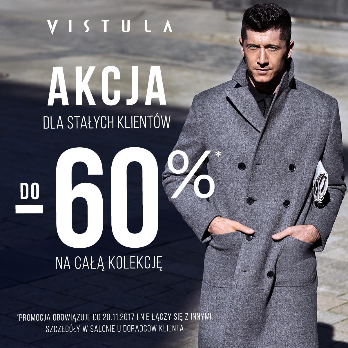 Akcja dla stałych klientów w salonie VISTULA. Do -60% rabatu na całą kolekcję!
