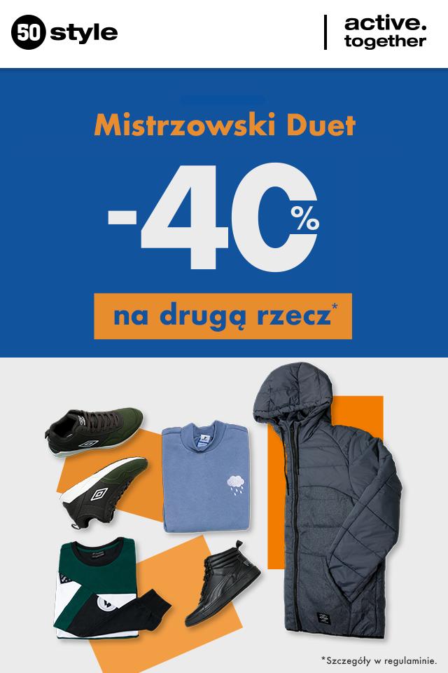 Mistrzowski duet w 50 style! -40% na drugi produkt.