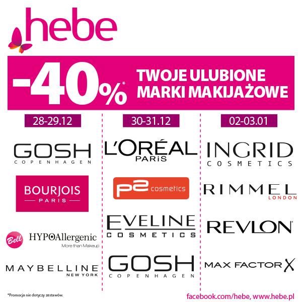 Ulubione marki makijażowe -40%*