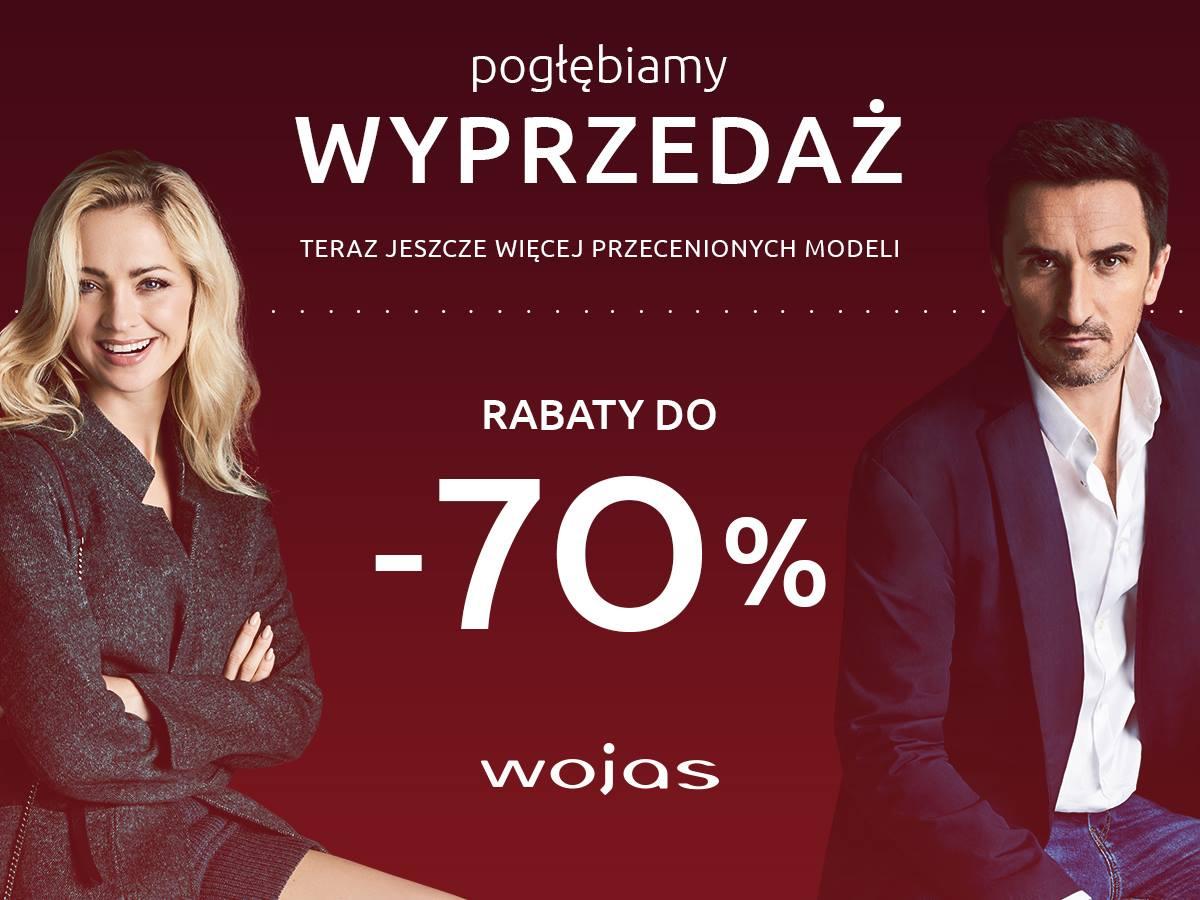 Wyprzedaż w Wojas! Rabaty do -70%!