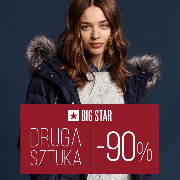 Aż 90% rabatu na drugi produkt w BIG STAR do 10 stycznia
