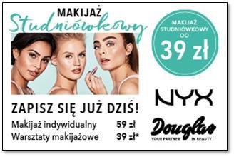 Perfumerie Douglas zapraszają na Makijaż Studniówkowy w atrakcyjnych cenach!