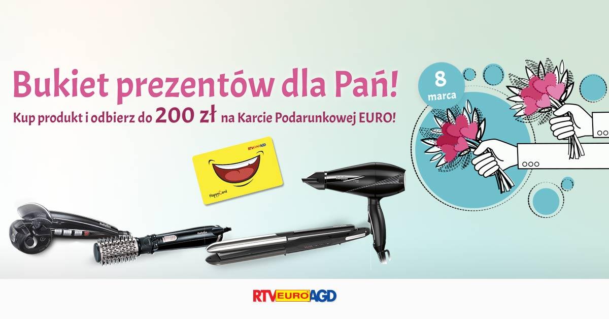 Tylko do 8 marca w sklepach RTV EURO AGD specjalna oferta z myślą o DNIU KOBIET.
