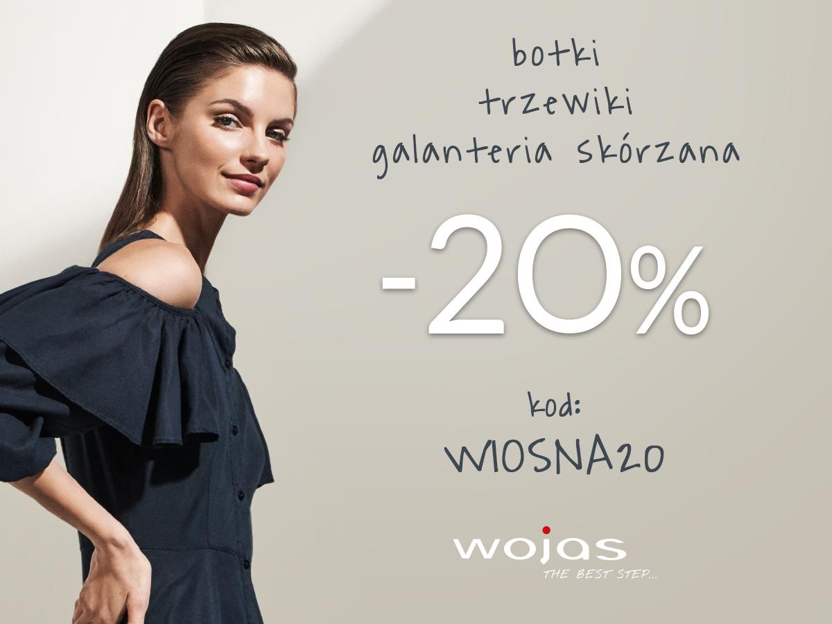 -20% na botki, trzewiki i galanterię skórzaną Wojas.