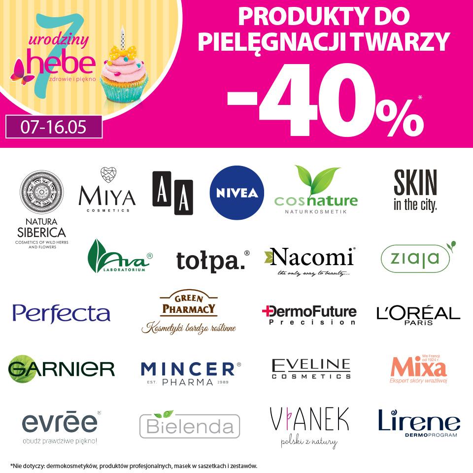 Produkty do pielęgnacji twarzy -40%*