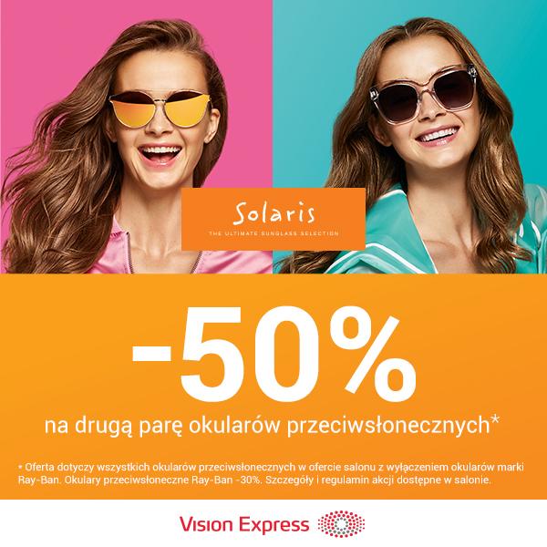 -50% na drugą parę okularów przeciwsłonecznych