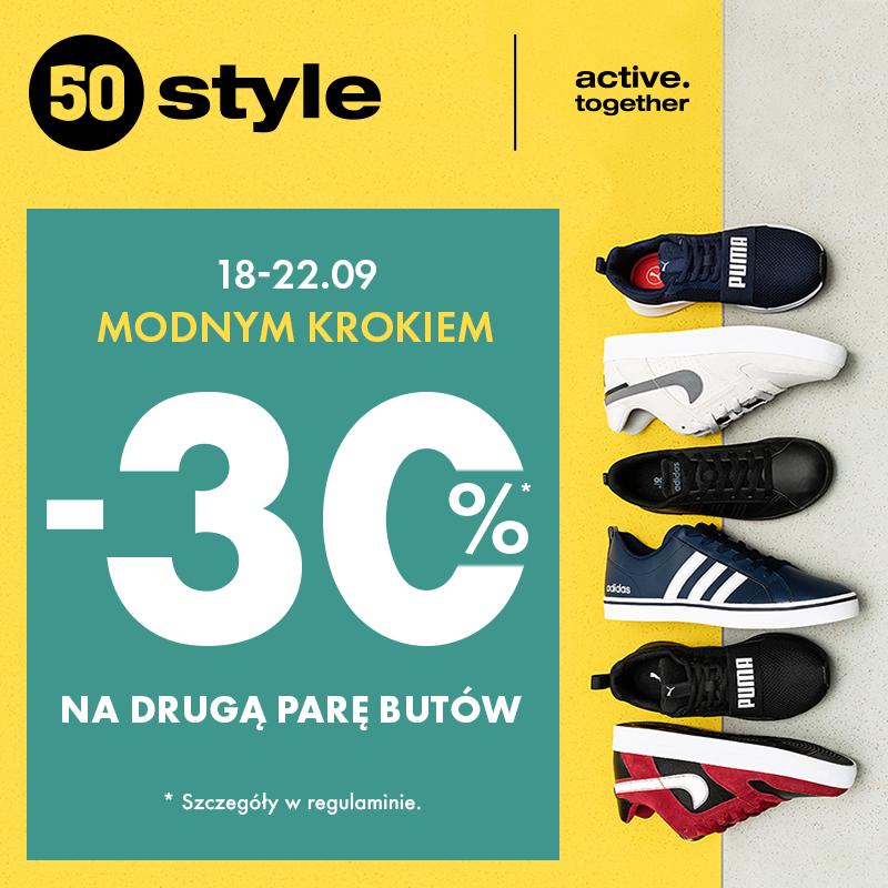 50STYLE: Modnym krokiem: -30% na drugą par butów