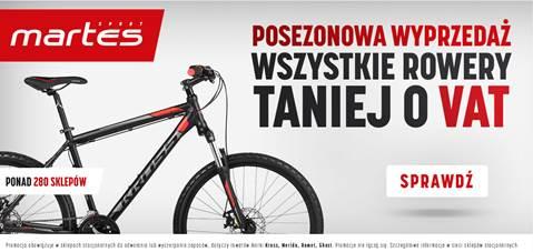 Wszystkie rowery taniej o Vat w Martes Sport!
