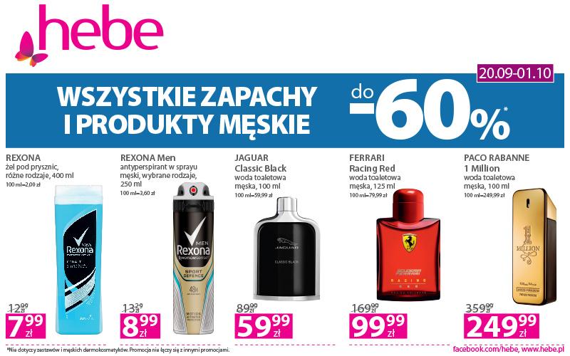 Megapromocja na wszystkie zapachy i produkty dla mężczyzn 🧔 – ceny nawet do -60%.
