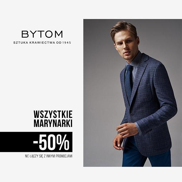 Wszystkie marynarki -50% w Bytom!