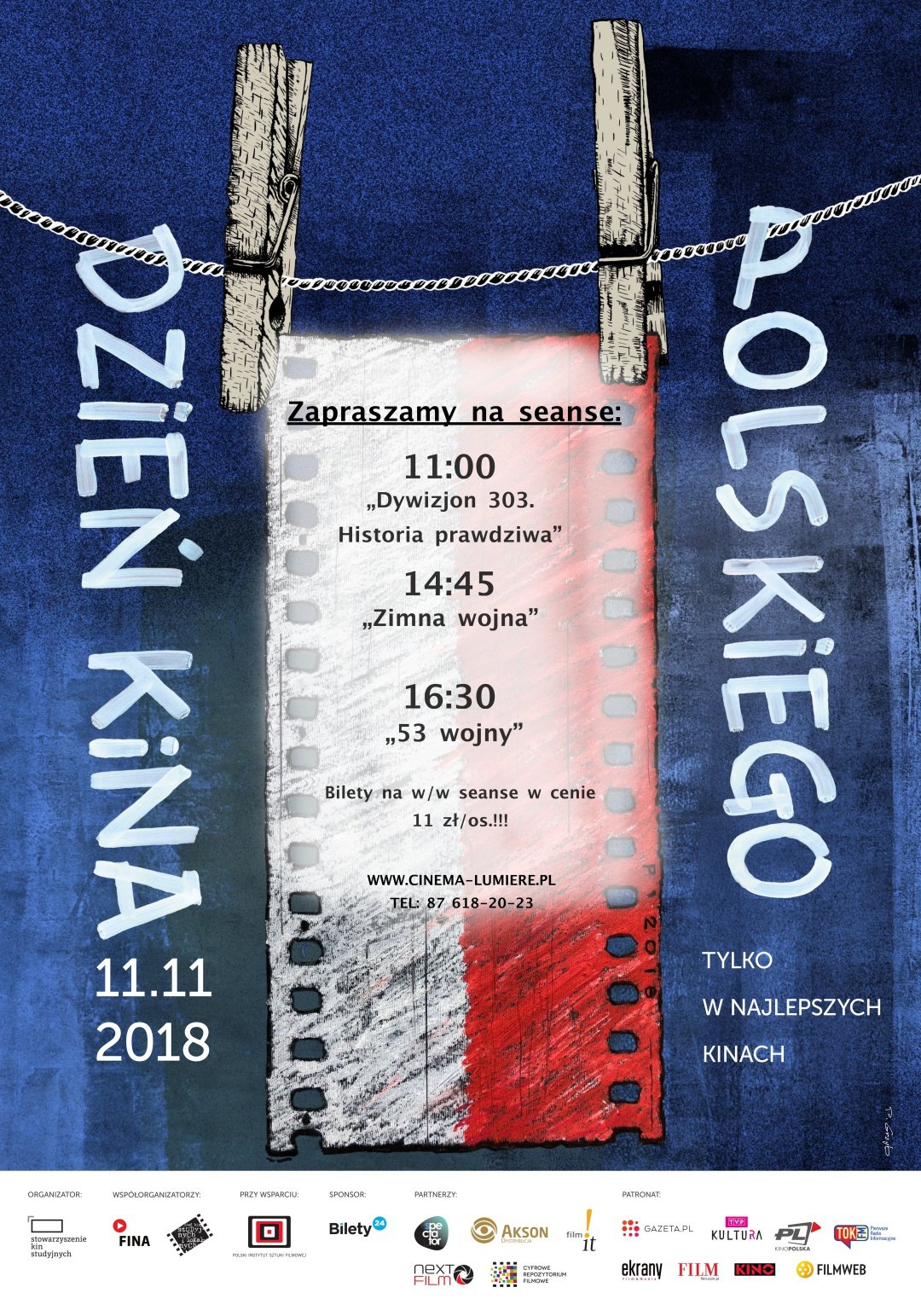 11.11 Dzień Kina Polskiego 🇵🇱️🎞️