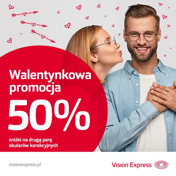 Walentynkowa promocja w Vision Express!