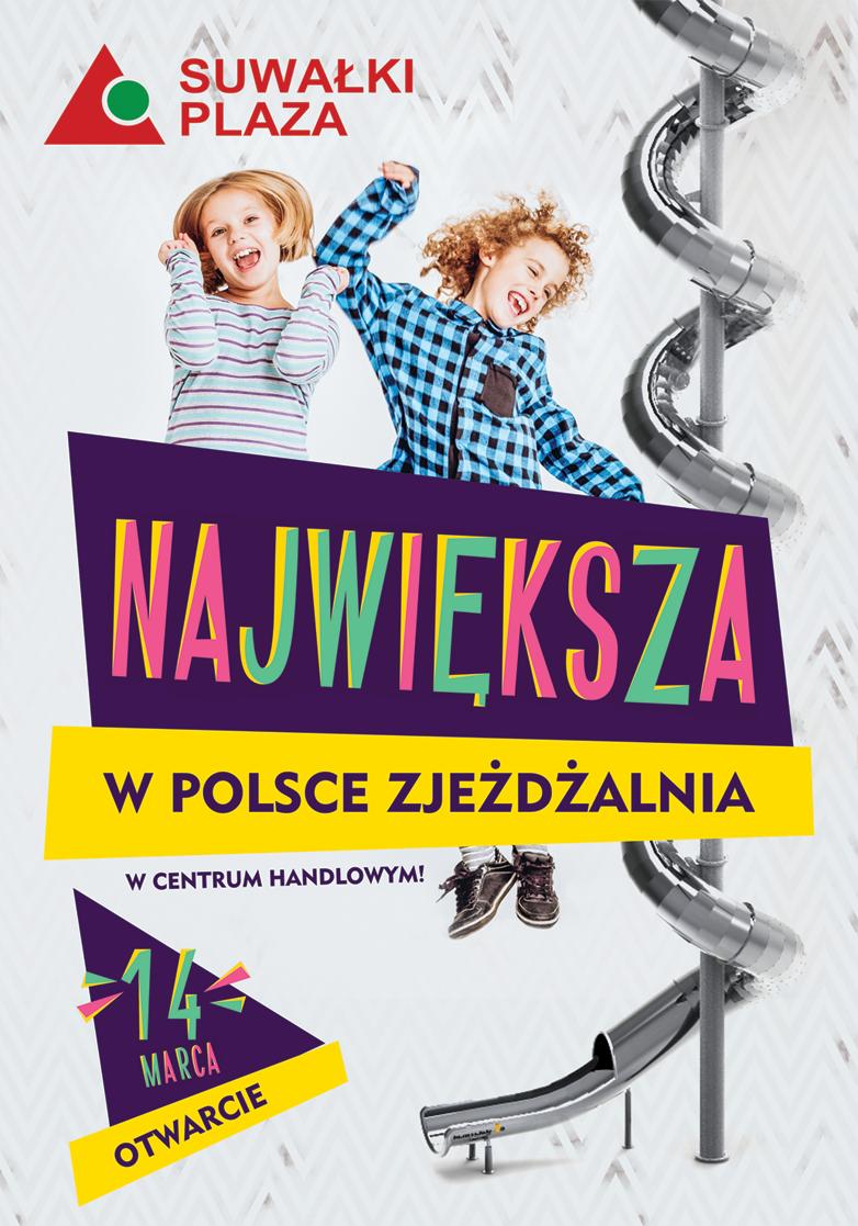 Otwarcie największej w Polsce zjeżdżalni w centrum handlowym!